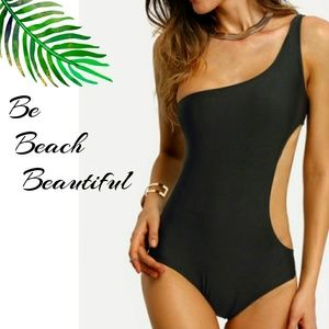 Other - One Shoulder Cut Out Swim Suit